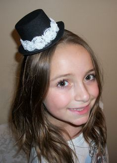 Black and White Fascinator Hat Headband Gorgeous Adult by SWEETZA, $12.99