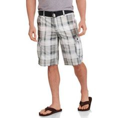 Faded Glory Big Men's Ripstop Cargo Short, Size: 44, White