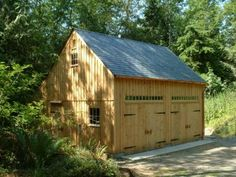 Exterior of One & A Half Story Post and Beam Country Barn with Options