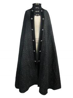 Cape INVERNESS Black Men/'s Opera Cloak Doctor Who Red Purple M XXL Mid Length