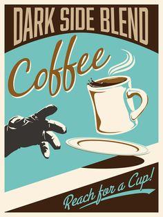 Retro STAR WARS Cola and Coffee Ad Art