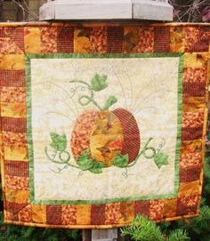 "Hand applique! Hand embroidery! Hand quilting! A perfect 'get it done' small project. 24""x24"""