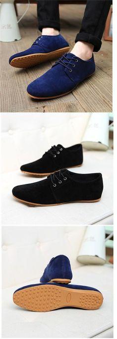 Hombre Zapatos Ante Sintético Primavera Verano Otoño Confort Oxfords Azul  marino Negro Marrón