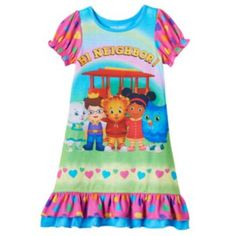 "Daniel+Tiger's+Neighborhood+""Hi+Neighbor!""+Nightgown+-+Toddler+Girl+"