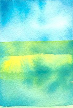 Watercolour Abstract Home Decor  Rothko  Ocean by KiteFlier, $15.00