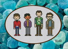 Cross Stitch Pattern Big Bang Theory Instant by TinyNeedle on Etsy, $5.00