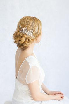 Braut Haar Stück Perlen Kristalle Comb  von lokschin auf Etsy