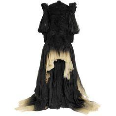 Alexander McQueen Dégradé silk-organza off-the-shoulder gown ($14,680) ❤ liked on Polyvore featuring dresses, gowns, alexander mcqueen, vestidos, women, black gown, black dress, long black dress, long black ball gown and black off shoulder dress