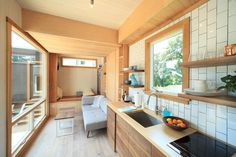 Our Tillary Modular Sofa is tiny-house worthy! Seen on dwell.com