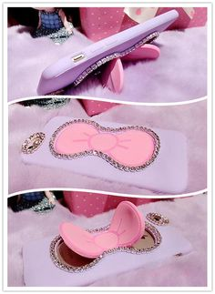 Bow Knot with Rhinestone invisible Steady Phone Case Cover for iPhone 6S & iPhone 6S Plus