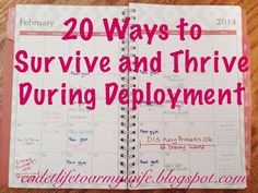 From Cadet Life... To Army Wife: 20 Ways to Survive and Thrive During Deployment