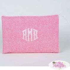 Rectangular cosmetic case in your choice of fabric or vinyl exterior Bag…
