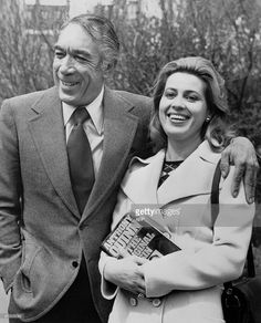 US actor Anthony Quinn and his wife Iolanda smile in London 17 April Born to an Irish father and Mexican mother 21 April 1915 in Chihuahua, Mexico, Anthony Quinn enjoyed a breef career as a. Golden Age Of Hollywood, Classic Hollywood, Great Movies, New Movies, Behold A Pale Horse, First Academy Awards, Jackie Gleason, Anthony Quinn, Kirk Douglas