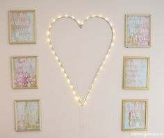 Super-sweet gallery wall in a baby girl nursery!