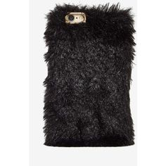 Soft Spot Faux Fur iPhone 6 Case ($28) ❤ liked on Polyvore featuring accessories, tech accessories and black