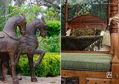 Maraya's own exotic English Cottage with island details.  Maraya Interior Design