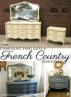 French Country Blue My Craigslist Score Dresserdresser Setsfrench
