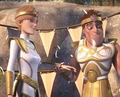 Dagur and Mala. I actually love this pairing now. AND DAGUR SHAVED!!!! XD
