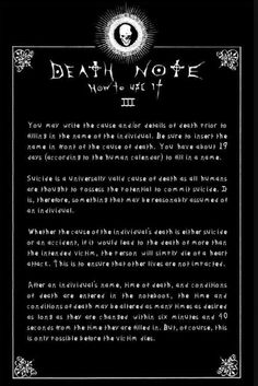 Rules of the Death Note III