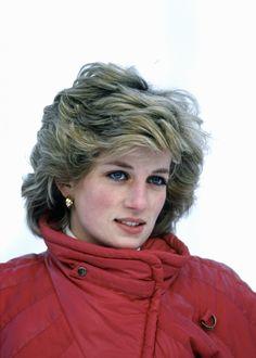 Princess Diana on a ski holiday in 1985 in Liechtenstein.January 24, 1985: Princess Diana on skiing holiday in Malbun, Liechenstein.