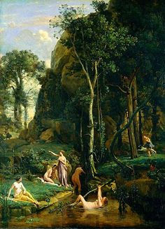 Camille Corot Diana and Actaeon