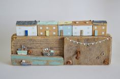 Large Driftwood 'Jolly Harbour Cottages' Handmade by