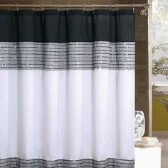 Fun BW Shower Curtain With Some Bling