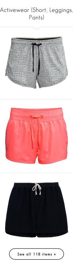"""Activewear (Short, Leggings, Pants)"" by giovanna1995 ❤ liked on Polyvore featuring shorts, sportwear, dark grey marl, coral, bottoms, pants, short, black, drawstring shorts and highwaist shorts"