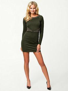 Bonnie Dress - Nly Trend - Army Green - Festkjoler - Tøj - Kvinde - Nelly.com
