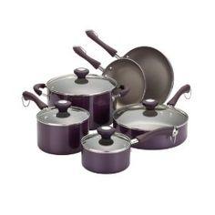 Paula Deen Traditional Porcelain 10-Piece Set, Purple,$107.04