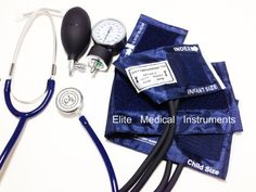 EMI 311 BLACK Pediatric Aneroid Sphymonamoneter Set Child and Infant cuff Plus Basic Dual Head Stethoscope -- More info could be found at the image url.