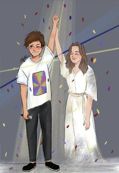 Louis Tomlinson and Johanna wallpaper. One Direction Fan Art, One Direction Cartoons, One Direction Drawings, One Direction Wallpaper, One Direction Pictures, Direction Quotes, Larry Stylinson, Liam Payne, Imprimibles One Direction