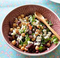 4 Συνταγές για σαλάτα με όσπρια πλούσια σε πρωτεΐνη! | ediva.gr Bean Salad, Healthy Choices, Healthy Recipes, Healthy Food, Salads, Protein, Beans, Vegetarian, Vegetables