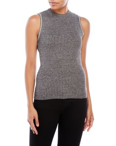 Cloud Chaser Mock Neck Ribbed Tank