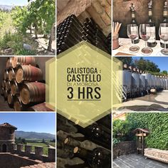 Calistoga : NAPA : Tour worth it $40pp. Tasting of 8mo barrel wine + 5 tastings pp. Hubby liked RED + I like WHITE (okay to share) = we each tried 10 wines. Guide Jamie 👍 pre and post drinking 👍