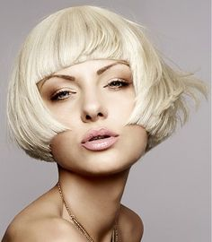 Hairstyle by Mode Short fringe that shows her eyebrows off to perfection. Gorgeous hair and perfect brows. www.ukhairdressers.com