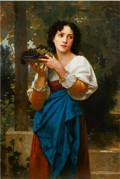 William Adolphe Bouguereau- La Treille (La Arbour) 1871 in a private location