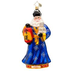 Radko Ornaments | Christopher Radko Japan Fujiyama Santa Ornament 1017430