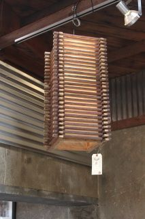 Scrap Redwood Pendant Light