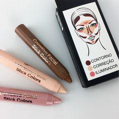 O Corretivo Facial Stick Colors, da Luisance, é perfeito para você que procura praticidade para as técnicas de contorno e iluminação, pois vem com 3 corretivos em formato de caneta retrátil super fáceis de usar.