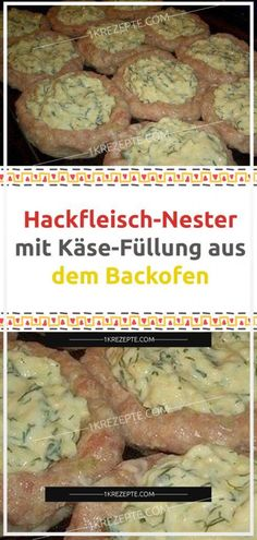 Hackfleisch-Nester mit Käse-Füllung aus dem Backofen Tasty minced meat nests with cheeses you'll love. Only the right side dish to select and for lunch is taken care of. You can use beef, pork or chicken minced meat. Nester, Benefits Of Potatoes, How To Make Hamburgers, Toast Pizza, Mince Meat, Best Meat, Pork Chop Recipes, Fall Recipes, Simple Recipes