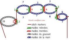 Knitted Mittens Pattern, Fingerless Gloves Crochet Pattern, Gilet Crochet, Crochet Mittens, Knitted Gloves, Knitting Socks, Crochet Lace, Baby Knitting, Fingerless Mittens