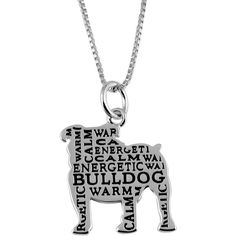 f04e919f20af Jewel Exclusive Sterling Silver Bulldog Companion Pendant ( 20) ❤ liked on  Polyvore featuring jewelry