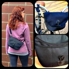 Convertible Bike Bag & Purse-in-One Free PDF Sewing Pattern + How To Transfer Darts - with ⓈoftGoodsJess and ⓏedesSewingStudio ✄