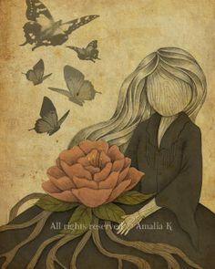 ser um ser sozinho..ou estar acompanhado de borboletas...