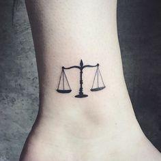 Little walk in from yesterday at Fleur Noire Tattoo - Brooklyn! Libra Scale Tattoo, Libra Zodiac Tattoos, Aquarius Tattoo, Leo Tattoos, Sleeve Tattoos, Future Tattoos, Mini Tattoos, Little Tattoos, Small Tattoos