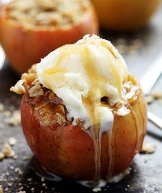 sültalma finom édes Bbc Good Food Recipes, Healthy Recipes, Rhubarb Crumble, Crumble Recipe, Fall Dinner, Apple Desserts, Baked Apples, Apple Crisp, Dollar Stores