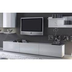 trouver meuble tv bas blanc laque ikea ginette pinterest salons - Meuble Tv Ikea Expedit