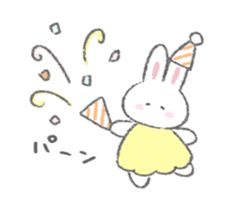 The fluffy bunny sticker 6 – LINE stickers Cute Bear Drawings, Cute Little Drawings, Easy Drawings, Kawaii Bunny, Cute Bunny, Fluffy Bunny, Cute Messages, Cute Doodles, Cute Memes