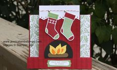 Centre step card just for Christmas! I love the cozy warm fire!